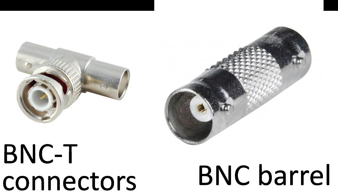 BNC-T connector and barrel