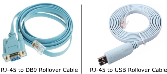 rollover cable DB9 and USB type