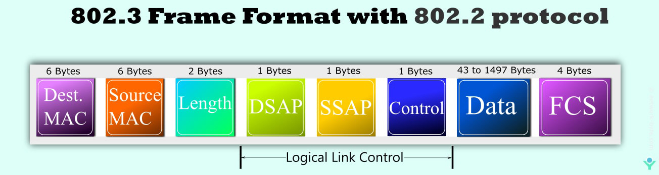 802.3 frame format with 802.2 protocol